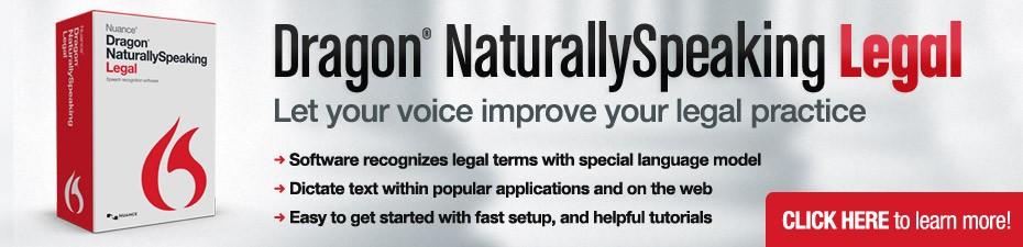 Dragon NaturallySpeaking Legal